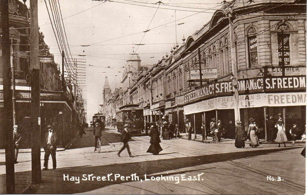 Hay St, Perth, looking east, early 1900s