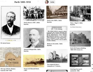 Pinterest board for Perth 1895-1910