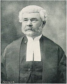 Stephen Henry Parker, KCMG, Chief Justice of the Supreme Court of Western Australia from 1906 to 1914. Black and white photo from Wikipedia.