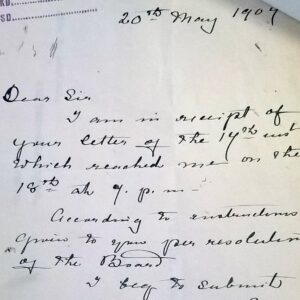 Letter from 1907