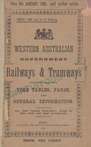 Railway timetable for 1905, found during research for The Edward Street Baby Farm
