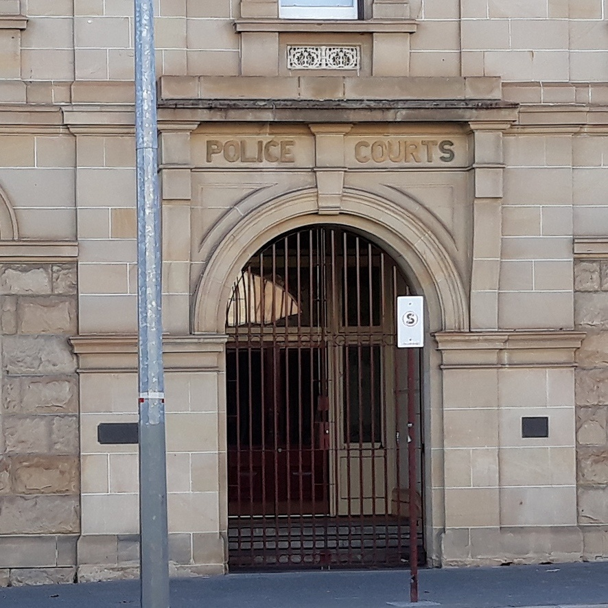 Entrance to the Police Court building, Beaufort Street Perth