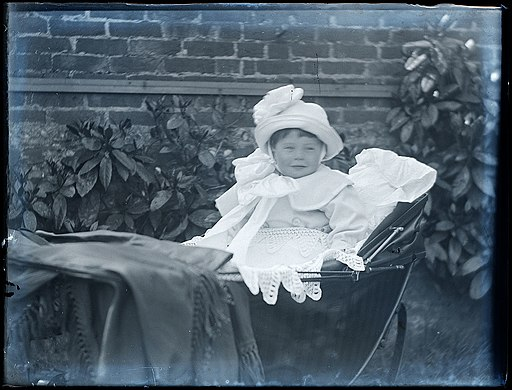 Unknown baby in pram, early 1900s