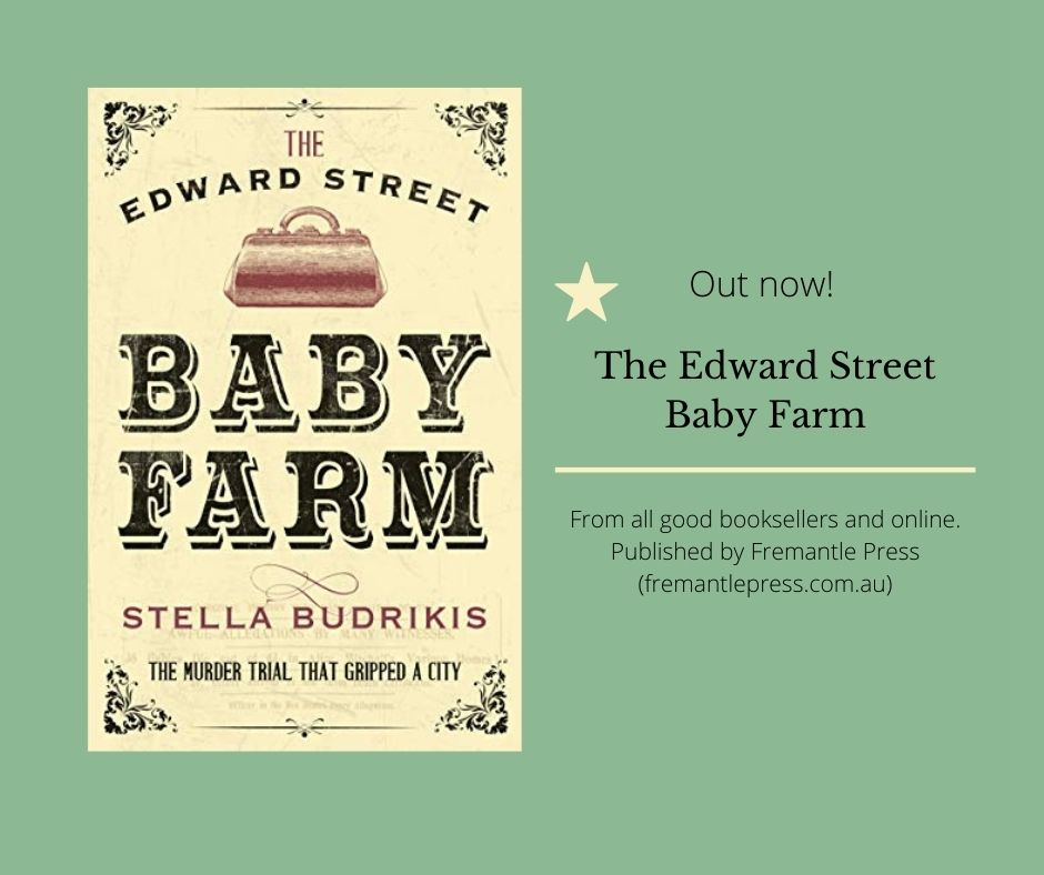 The Edward Street Baby Farm book cover and announcement