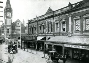 Hay Street looking east towards Town Hall, Perth, c 1880s. Image from Museum of Perth